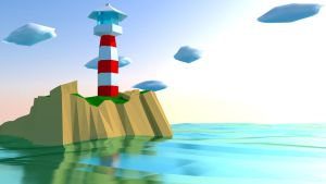 Low Poly Lighthouse by SupahPOW31