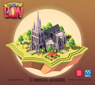 Building the Lion - St Andrews Cathedral by nigelhimself