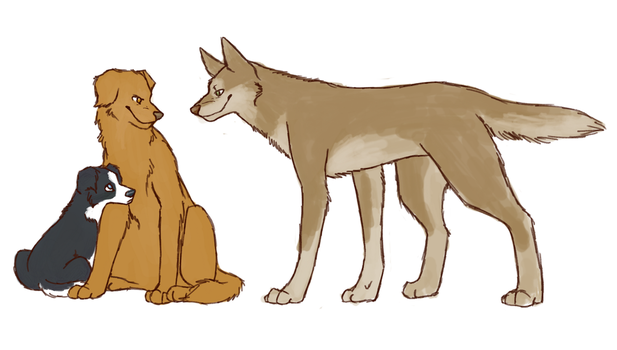 SPN dogs-Angel brothers by Sammaella