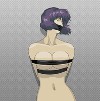 Taped Up Motoko 2 by shibaji