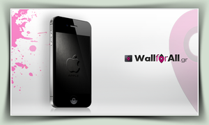 dark grey apple_iPhone by WallforAll