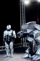 Robocop and ED-209 Costumes by AndreaStarchild