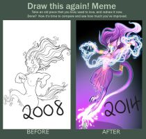 Draw this again meme - Cat Genie by Toonfused