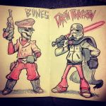 Bones And Darth Pinkerton by TheGreyNinja