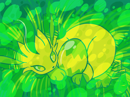 Leafeon and Egg in the Sunlight .GIF by SaiMistu