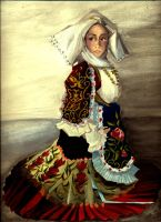 Me in traditional clothes by thewomaninred