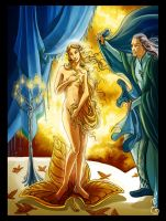 The birth of Galadriel by DavinArfel