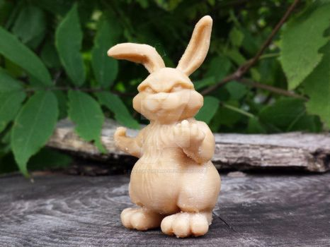 Bunny with a Attitude 3dprint Etsy by daylightdreams