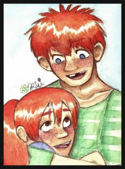 Ron and Ginny as kids squeeee by Ron-x-Ginny