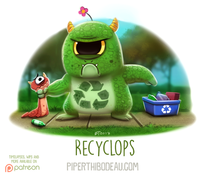 Daily Paint 1632. Recyclops by Cryptid-Creations