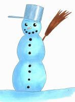 Holiday Card Project 2015: A Snowman by lichotka