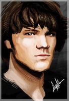 Sam Winchester Painting by superfizz