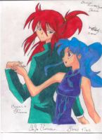 Kurama and Botan by aikou-yami