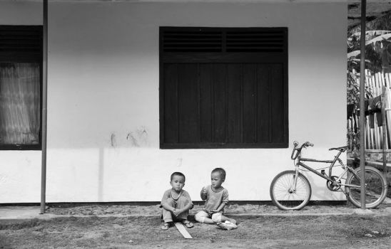 Brother's and Their Old Bike by allanmemangallan