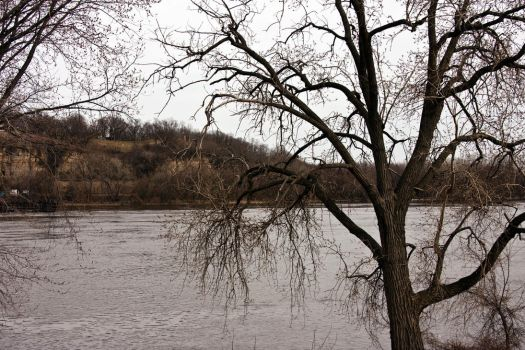 Mississippi River in April by Katiemarie