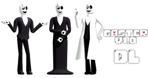 MMD Undertale - Gaster 1.0 by MagicalPouchOfMagic