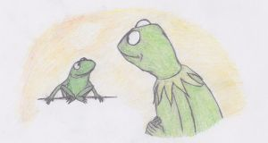 Kermit and Robin by magictoast15