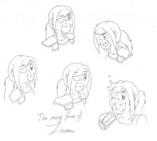 The many faces of Zevron by MalisVitterfolk