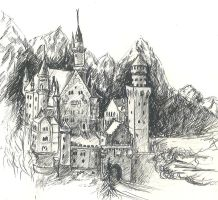 Neuschwanstein by Disharmony100