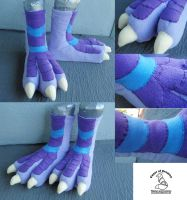 Fleece Dragon Feet by theassassinnox