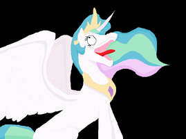 Celestia Derping by MoongazePonies