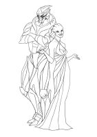 asari and turian OC by miss-dronio