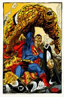superman vs fantastic four by namorsubmariner