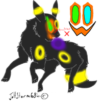 Crazy Toothy (Umbreon version) by AlmightyWonderwaffle
