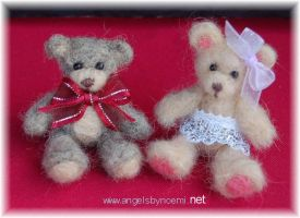My First Needle Felted Bears by noe6