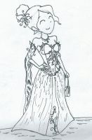 lady of the Lilac dress shameless re-draw by sgste