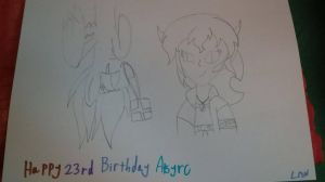 Happy 23rd Birthday Atsyrc by LittleMinecrfatDwarf