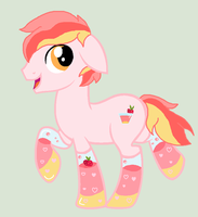 Strawberry Drink Potion Pony for Lavender-Adopt by HappyHippoAdopts
