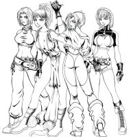 The King of Fighters Girls by guoki