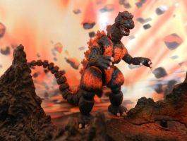 BURNING GODZILLA 2.0 by mayozilla