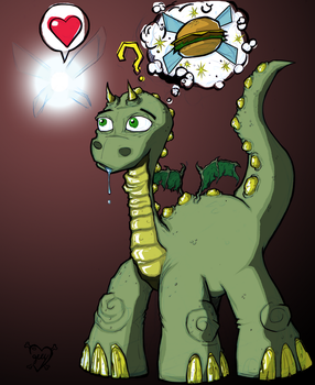 dinodragon and fairy by Coffeehouseartist