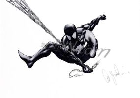 Black Spidey by davidyardin