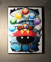 Perler Dr. Robotnik and Death Egg by Dlugo1975