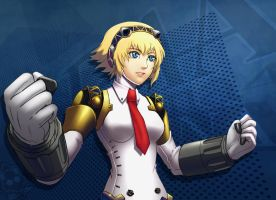 Persona 4 Arena Aigis by StreyCat
