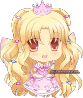 Chibi - Sparkly Pinky-Puff Princess by Rinselli-chan