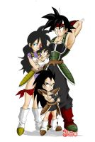 Saiyan Family by JagoDibuja