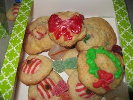 Box of Christmas Cookies by marlipaige