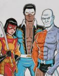 Outsiders - Katana, Black Lightning and Metamorpho by calslayton