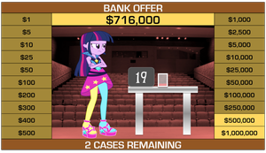 Twilight Sparkle on Deal or No Deal by j4lambert