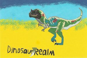 Cavern T-Rex Dinorealm logo by b-lea