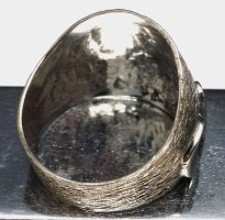 Sterling Silver Wave Ring Handmade Back view by Krystalchains