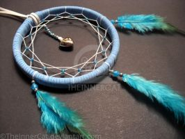 Blue Love Dream Catcher (Hand Made) by TheInnerCat