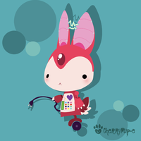 Robot Bunneh by KeIdeo