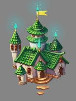 Emerald castle by ElizavetaS