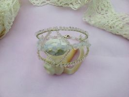Moonstone silver bracelet by Mirtus63