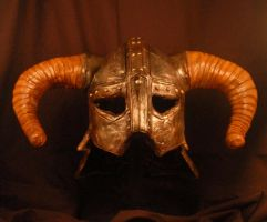 Skyrim Iron Helm Front View by selever2000
